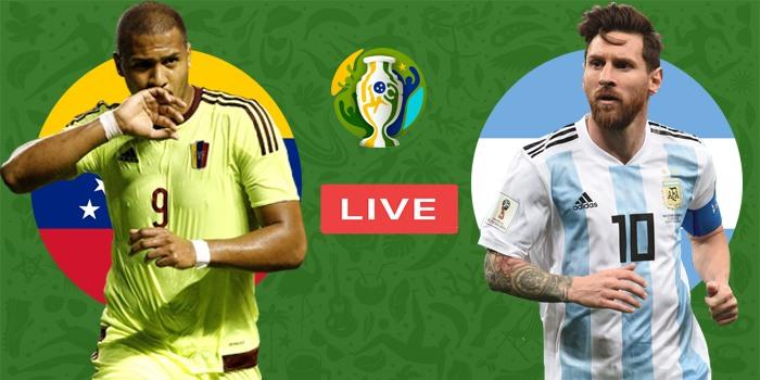 صورة البث المباشر لمباراة الأرجنتين وفنزويلا