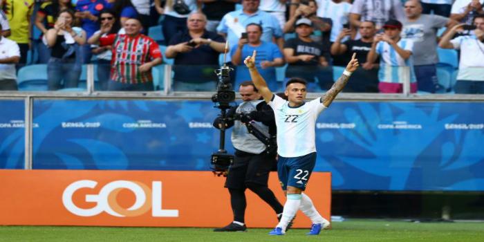 """صورة الأرجنتين تجتاز فنزويلا وتضرب موعدا مع البرازيل في المربع الذهبي لـ""""كوبا أمريكا""""- فيديو"""