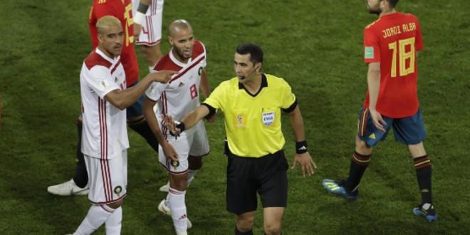 صورة حكام من جنسيات مختلفة لإدارة مباراة المغرب وناميبيا
