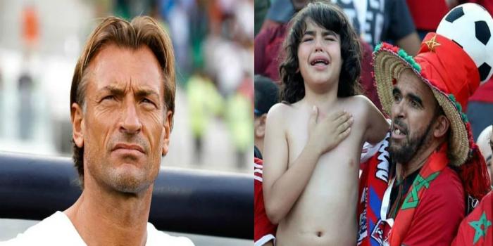 """صورة رونار ينشر صورة الطفل """"ريان"""" ويخاطب الجماهير المغربية"""