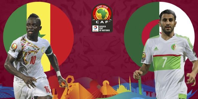 صورة التشكيلة الرسمية لمنتخب الجزائر ومنتخب السنغال