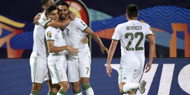 صورة محرز أفضل لاعب في مباراة الجزائر ونيجيريا