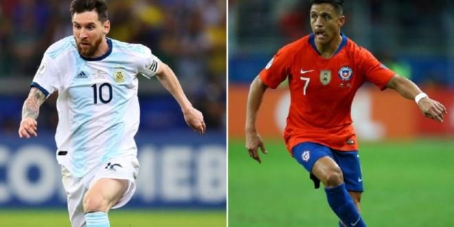صورة البث المباشر لمباراة الأرجنتين وتشيلي