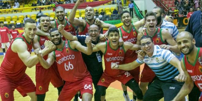 """صورة المنتخب الوطني لكرة السلة رابعا في بطولة """"أفروكان"""""""