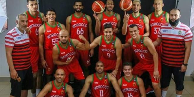 صورة المنتخب الوطني لكرة السلة يفوز في أول مباريات الأفروكان