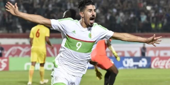 صورة شاهد هدف منتخب الجزائر الأول عن طريق بونجاح