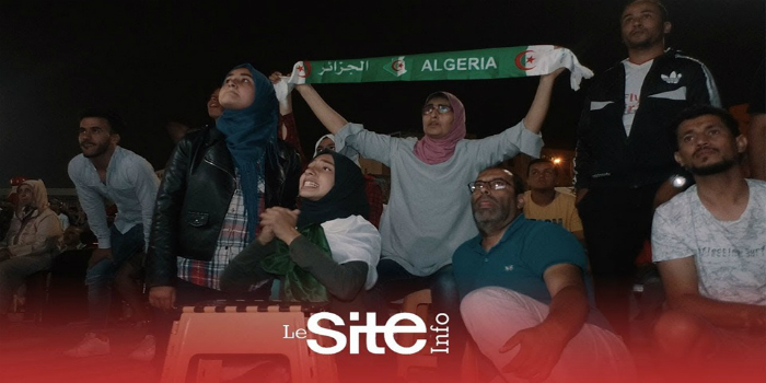 """صورة من قلب الدار البيضاء.. فرحة هيستيرية للمغاربة بعد فوز الجزائر بالـ""""كان""""- فيديو"""