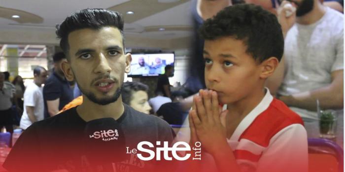 صورة حسرة وصدمة الجماهير المغربية بعد الإقصاء أمام بنين- فيديو