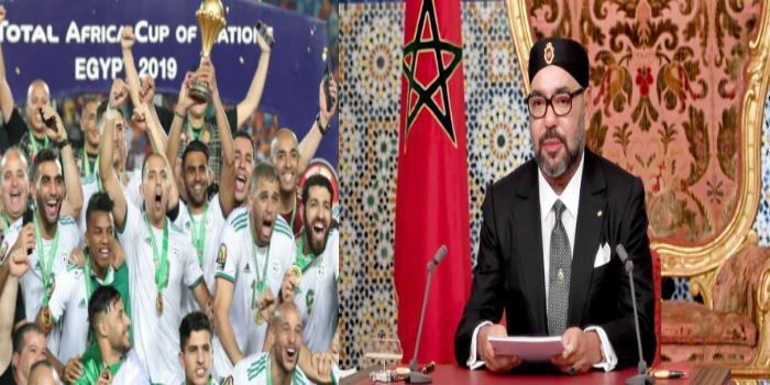 صورة هذا ما قاله الملك محمد السادس عن تتويج الجزائر و رغبة الشعب المغربي في فتح الحدود