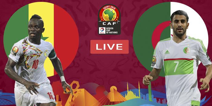 صورة البث المباشر لمباراة النهائي بين الجزائر والسنغال