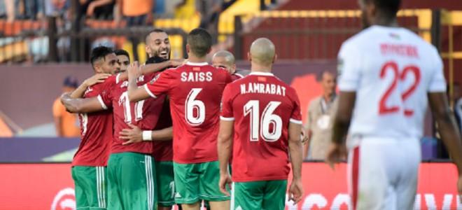 """صورة """"كاف"""" ترد على شكوى المغرب في مباراة ناميبيا"""