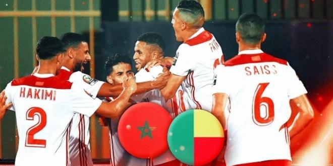صورة القنوات الناقلة لمباراة المغرب والبنين
