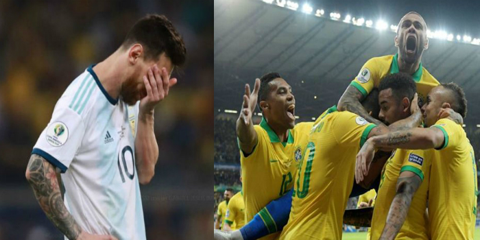 """صورة البرازيل إلى نهائي الـ""""كوبا"""" وميسي يُحرم مجددا من لقب مع الأرجنتين- فيديو"""