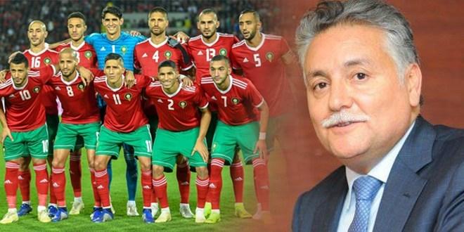 """صورة زعيم سياسي مغربي يدعم """"الأسود"""" قبل مواجهة بنين"""