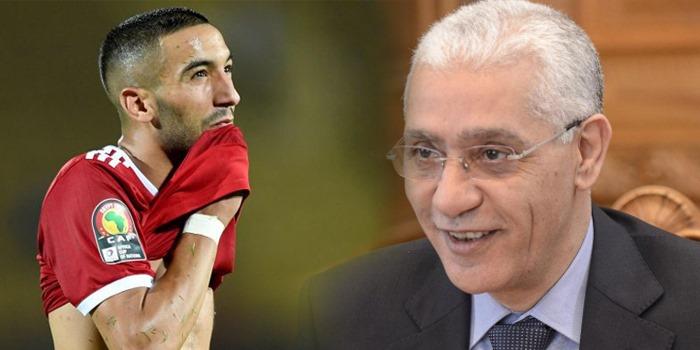 صورة صورة-زياش يتفاعل من جديد مع تصريحات وزير الشباب والرياضة