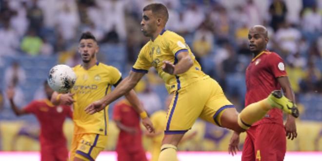 صورة حمدالله يقود النصر لتجواز ضمك في افتتاح الدوري السعودي