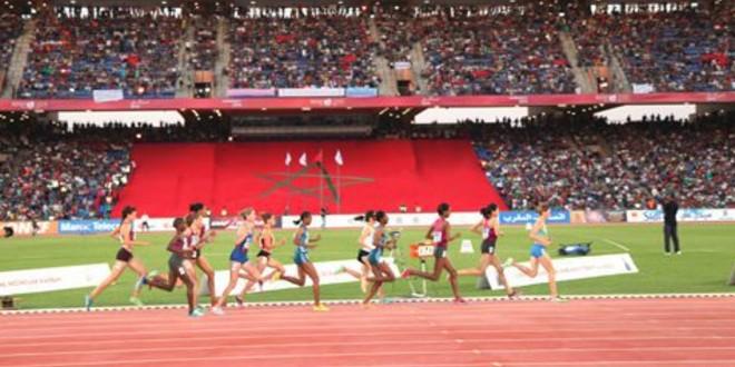 صورة المغرب ممثلا بعدد كبير من العدائين في الألعاب الإفريقية