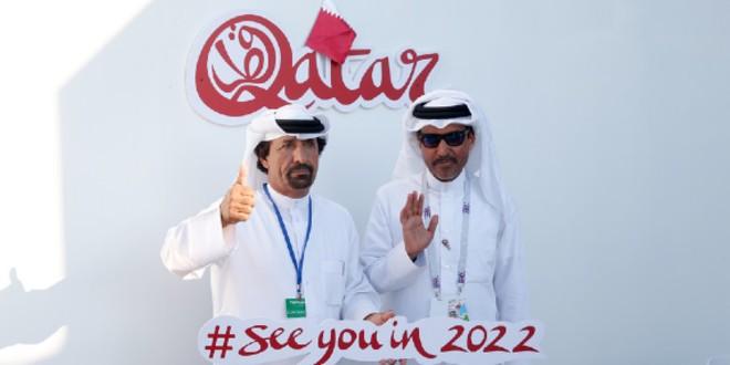 """صورة إطلاق الشعار الرسمي لبطولة كأس العالم """"قطر 2022"""""""
