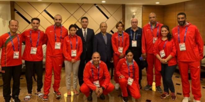 صورة زيارة خاصة لبعثة المغرب المشاركة في بطولة العالم لألعاب القوى
