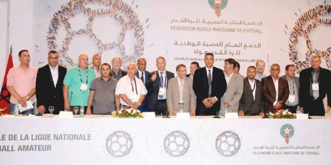صورة انتخاب جمال السنوسي رئيسا للعصبة الوطنية لكرة القدم هواة لولاية ثانية