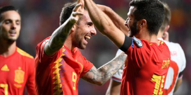 """صورة إسبانيا تسحق جزر الفارو برباعية وتقترب من """"يورو 2020"""""""