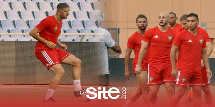 صورة تحركات عادل تاعرابت خلال الحصة التدريبية الأخيرة للمنتخب المغربي- فيديو