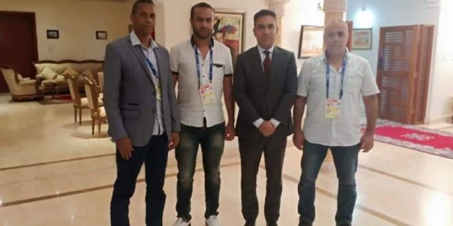 صورة الرابطة المغربية للصحافيين الرياضيين في ضيافة سفارة المملكة بقطر