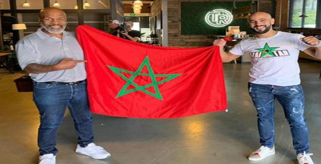 صورة تايسون يزور عثمان أبو زعيتر في المغرب