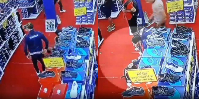 صورة فضيحة سرقة أحذية بطلها المنتخب التونسي لكرة القدم المصغرة- فيديو