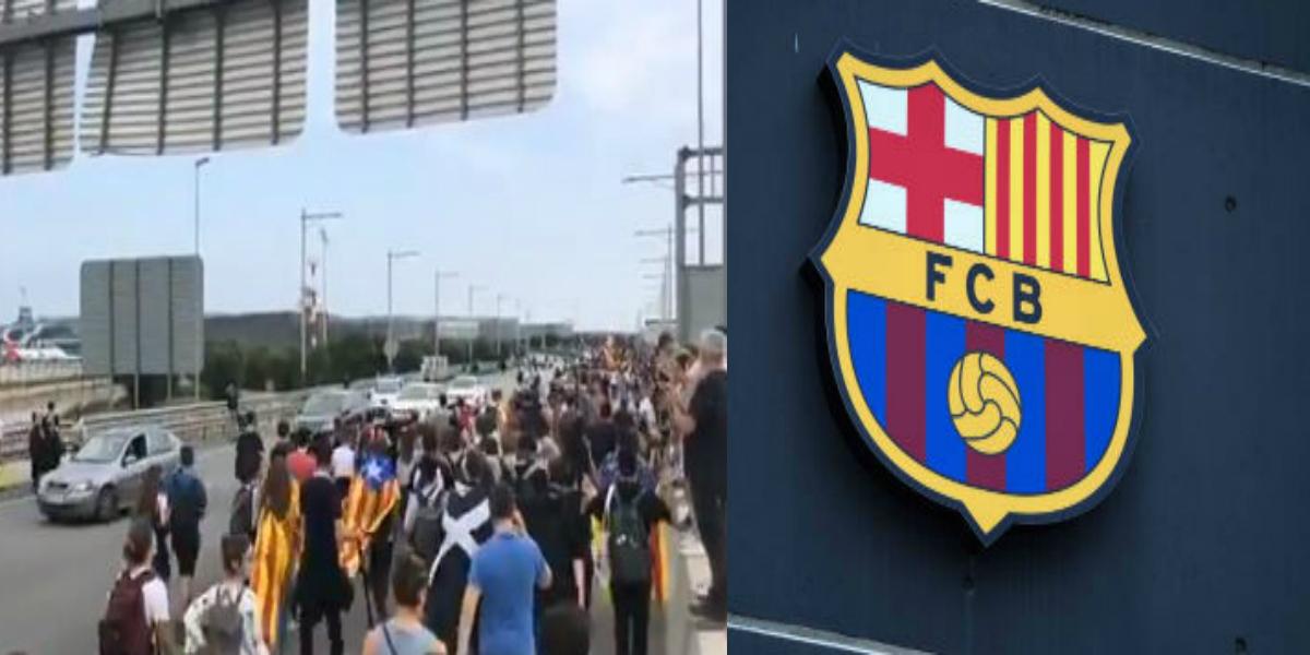 صورة مظاهرات حاشدة عقب الحكم بالسجن على انفصاليين كتالونيين وبرشلونة يخرج عن صمته