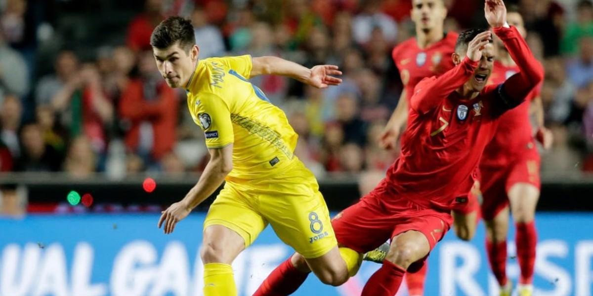 صورة أوكرانيا تتأهل إلى نهائيات يورو 2020 بعد الفوز على البرتغال