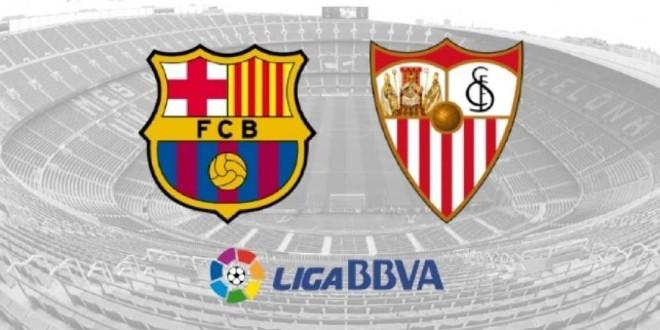صورة ملخص مباراة برشلونة وإشبيلية