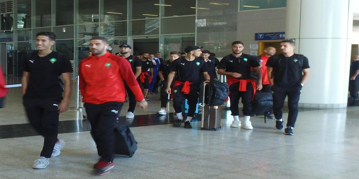 صورة المنتخب الوطني يصل إلى وجدة ويلقى استقبال حافل من الجماهير