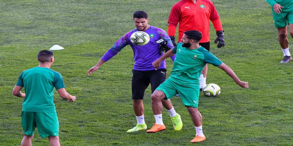صورة المنتخب المغربي يُجري الحصة التدريبية الأخيرة قبل مواجهة الغابون