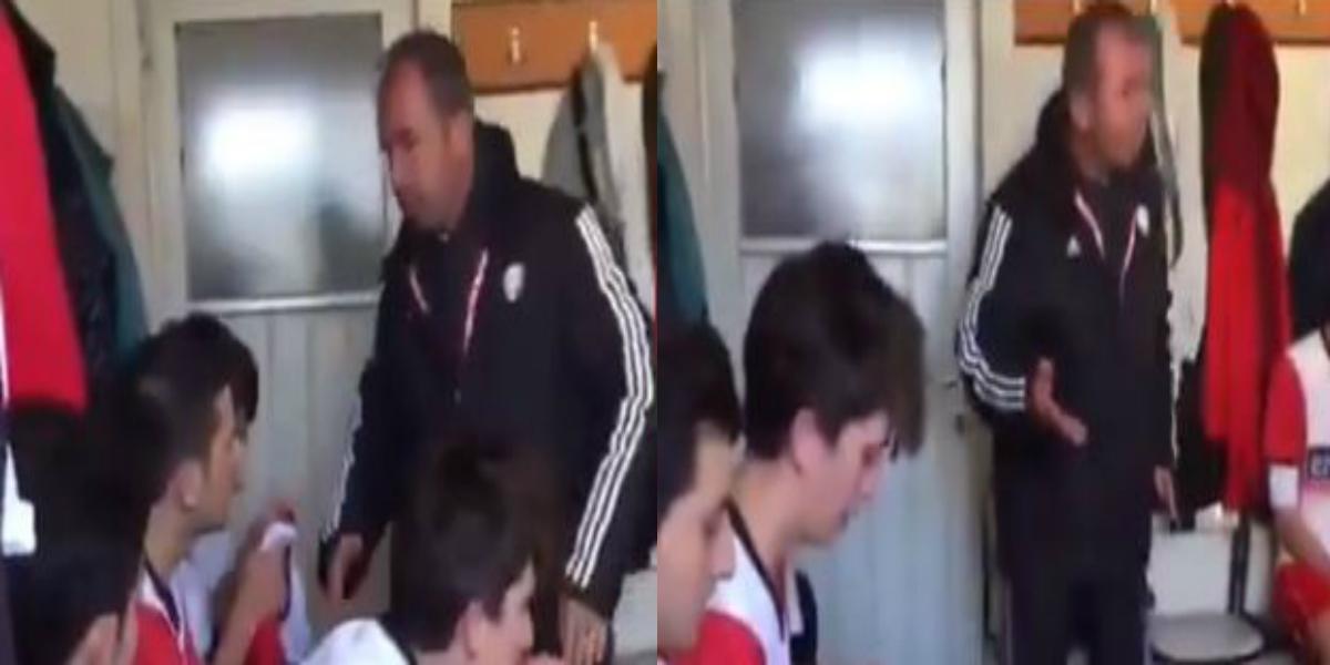 صورة فيديو مدرب يصفع لاعبيه بغرفة تغيير الملابس يثير الجدل بين رواد مواقع التواصل الاجتماعي