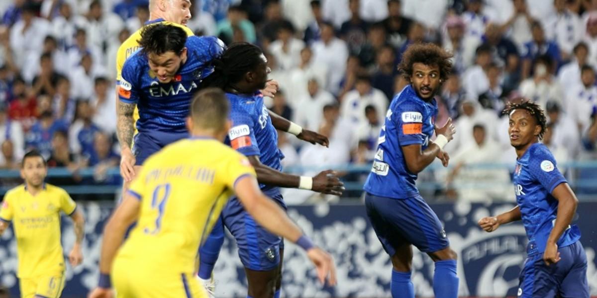 صورة حمد الله يتألق ويقود النصر للفوز بديربي الرياض على الهلال