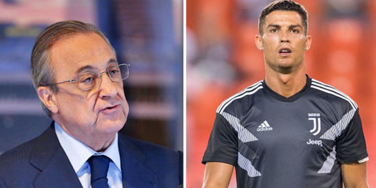 صورة بيريز يتفق مع رونالدو على العودة للريال