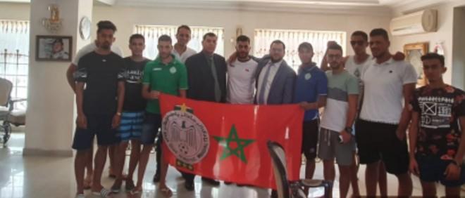 """صورة السفارة المغربية بعمان تنهي """"عذاب"""" جماهير الرجاء"""