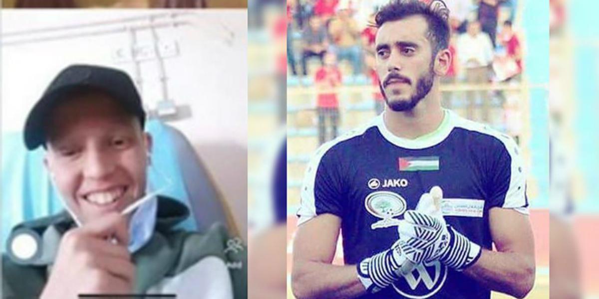 """صورة حارس هلال القدس يتواصل بالصوت والصورة مع المشجع الرجاوي """"السيمو"""""""