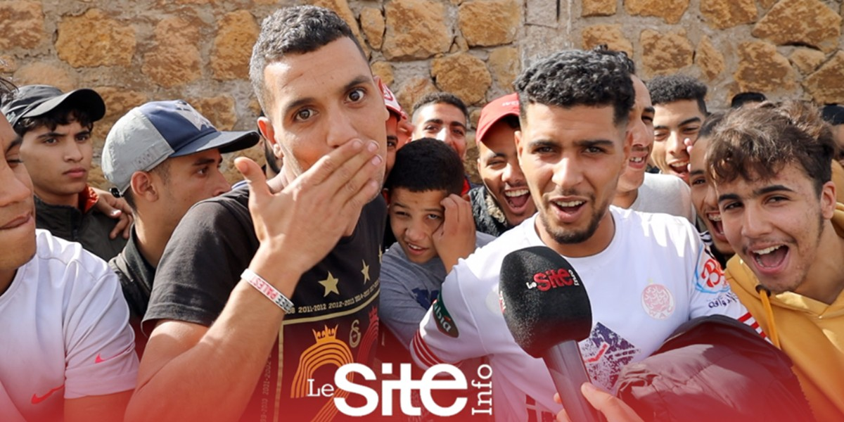 صورة جزائري يحضر للدار البيضاء لمؤازرة الوداد في الديربي-فيديو