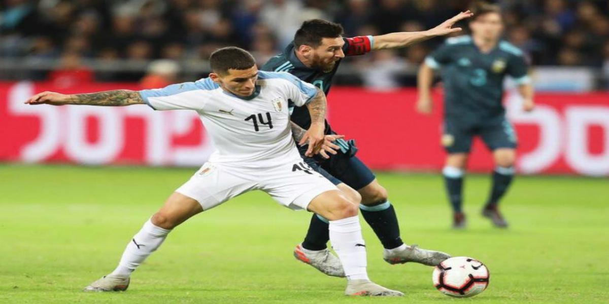 صورة التعادل يحسم ودية الأرجنتين والأوروغواي