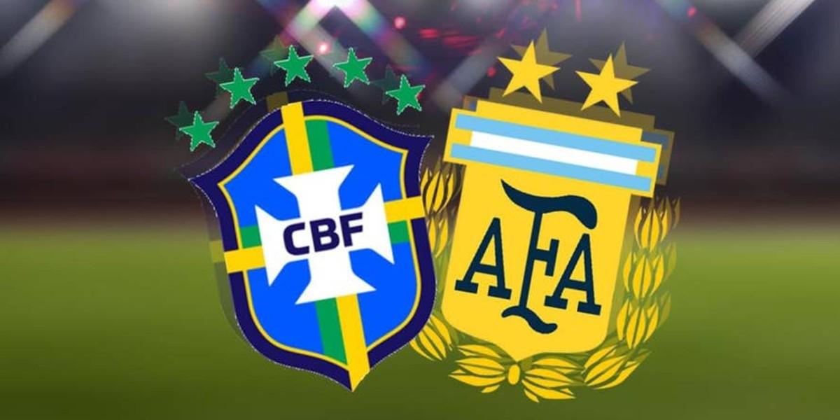 صورة البث المباشر لكلاسيكو البرازيل والأرجنتين