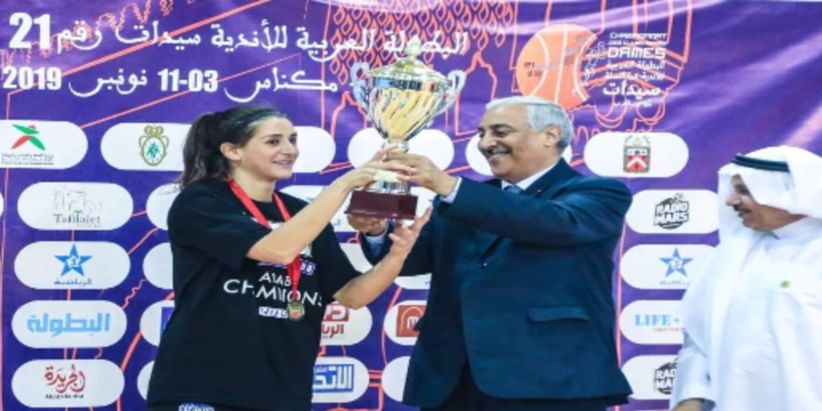 صورة سيدات بيروت تتوجن بلقب البطولة العربية لكرة السلة
