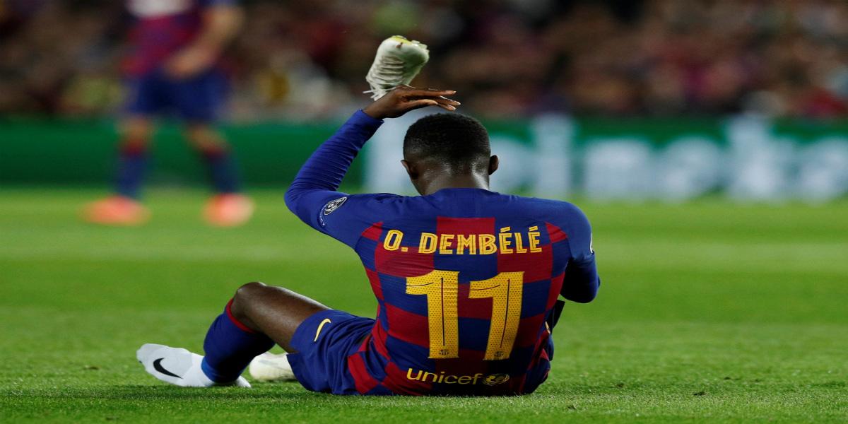 صورة برشلونة يكشف عن طبيعة إصابة ديمبلي