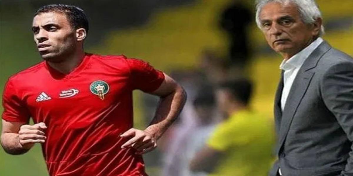 صورة مدرب المنتخب المغربي يقصف حمد الله بعد إعلان اعتزاله- فيديو