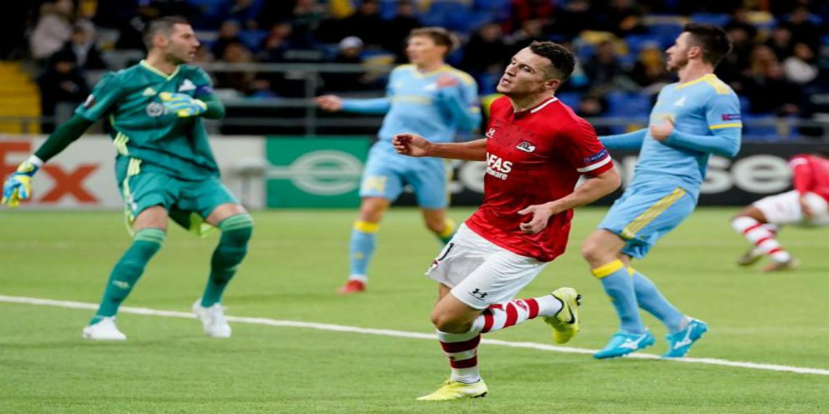 صورة بهدف وتمريرة حاسمة الإدريسي يقود فريقه للانتصار بخماسية في الدوري الأوروبي