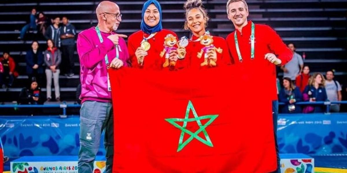صورة المغربية فاطمة الزهراء الفائزة بذهبية التايكواندو في أولمبياد الشباب 2018 ضمن المشاركين في مؤتمر الإبداع الرياضي الدولي
