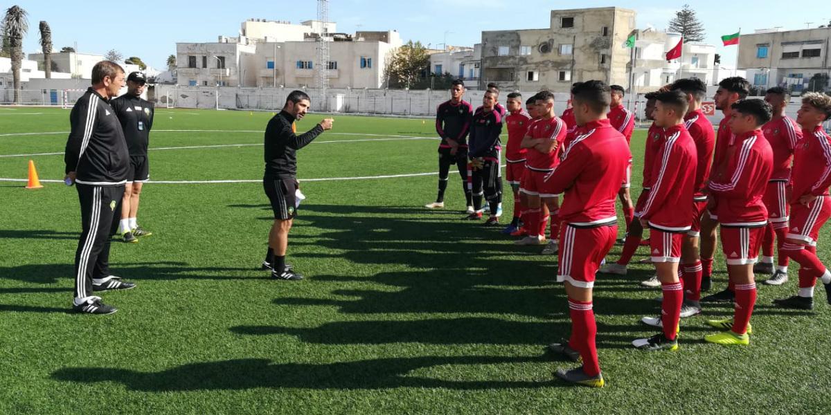 صورة المنتخب الوطني لأقل من 20 يجري حصته التدريبية الأولى في تونس