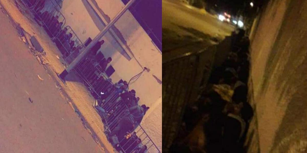 صورة جماهير الرجاء تمضي الليلة بملعب الوازيس- صور