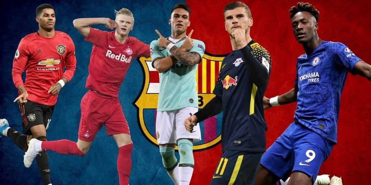 صورة خمسة لاعبين مرشحين لخلافة لويس سواريز في برشلونة